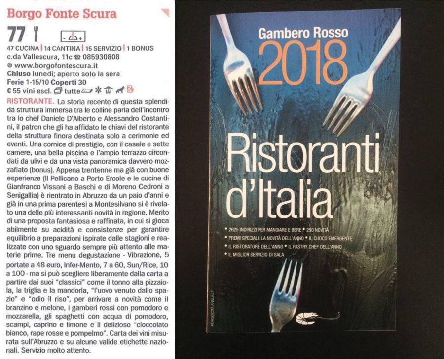 Borgo Fonte Scura – Gambero Rosso 2018